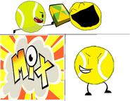 Tb + yellow face + mixels cubit = yellow ball