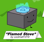 Flamed stove