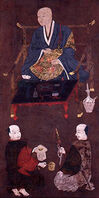 Uesugi Kenshin with Two Retainers (Niigata Prefectural Museum of Modern Art)