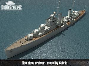 Dido-class cruiser render