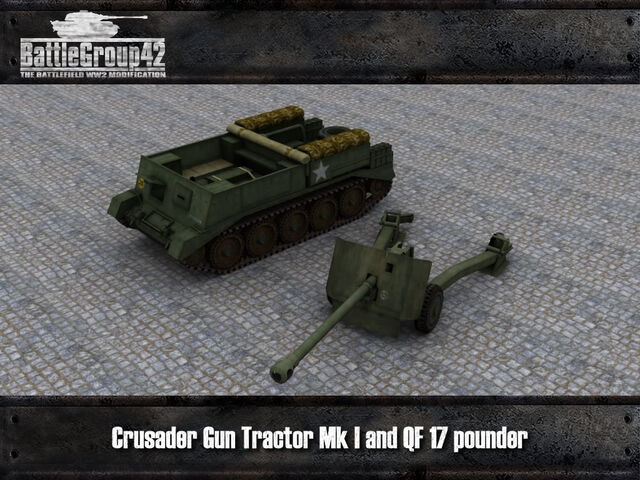 File:Crusader Gun Tractor & 17-pounder render 2.jpg