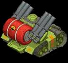 Veh tank flame heavy back