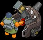 S mortar turtleShell back