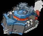 Veh tank snowplow front