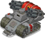 Veh tank flame heavy front