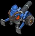 SW veh artillery back