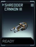 Shredder cannon