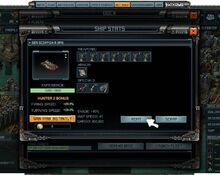Opened Ship Stat window, click refit