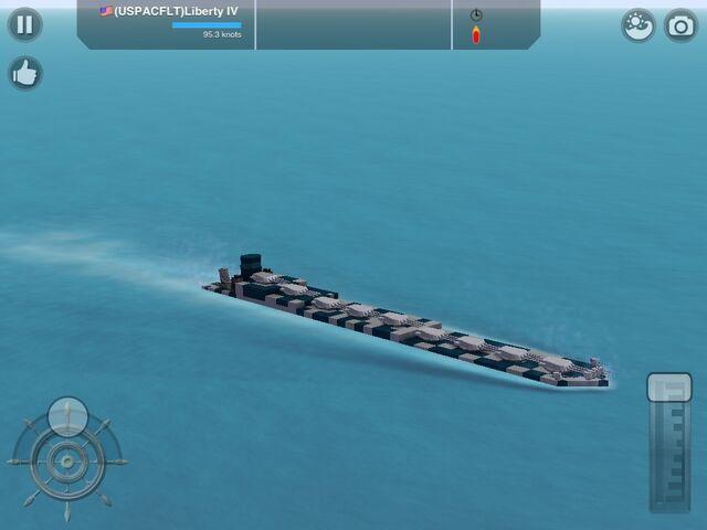 File:The USPACFLT Liberty IV a hvy battleship ranking VIP she is a powerful ship.jpg