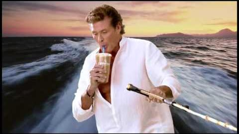 David Hasselhoff Thirsty for Love Cumberland commercial