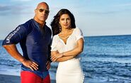 Dwayne Johnson with Priyanka Chopra