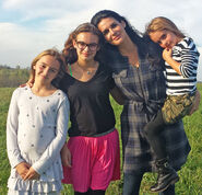 Angie with her daughters