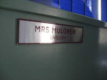 Mrs Mulgrew Classroom door