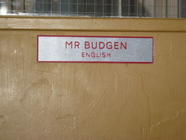 Mr Budgen Classroom door