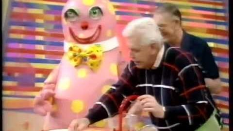 Mr Blobby In The Kitchen With Hudson & Hall