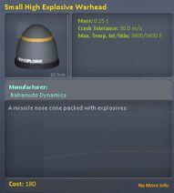 SmallHighExplosiveWarhead