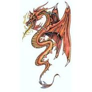 Red winged dragon tattoo