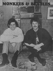 A monkee and a Beatle
