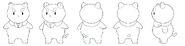 Tumblr puppycat standing turn