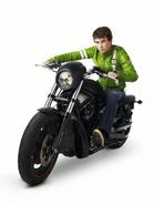 Ben Tennyson in Alien Swarm motorcycle