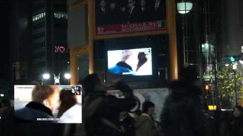 """Joyful"" CM being broadcast in Shibuya, Tokyo"