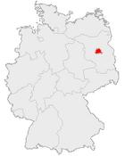 Karte des Landes Berlin in Deutschland