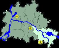 Lage Bezirk Treptow Koepenick in Berlin