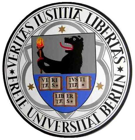 Datei:2005-02-06 Freie Universität Berlin - Siegel - bearbeitet.jpg