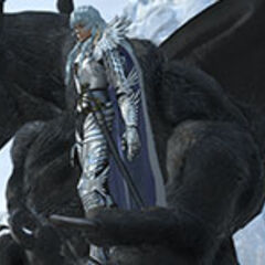 Griffith mounting Zodd during the battle against <a href=