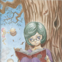 Schierke reads a book while Ivalera playfully punches <a href=