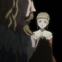 Being lectured by her father, <a href=