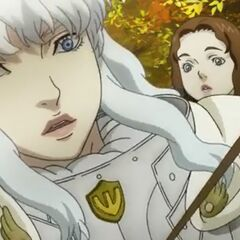 Griffith is struck by an arrow during the Autumn Hunt.