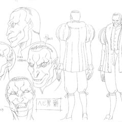 Full body and profile drawings of the Snake Baron in his human form for the <a href=