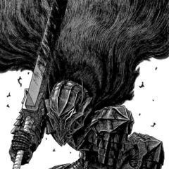Guts wearing the Berserker Armor after it has been influenced by the <a href=