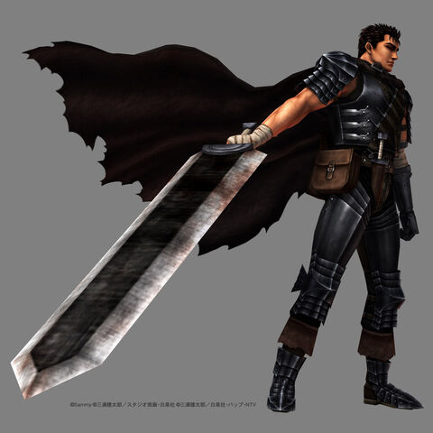 Guts' character model in <a href=