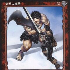 Guts clashes swords with Nosferatu Zodd for a second time atop the <a href=
