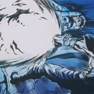 Guts uses his hidden cannon