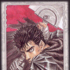 Guts ready to attack with the Dragonslayer. (Secret card 3)