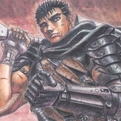 Guts clenches his prosthetic hand.