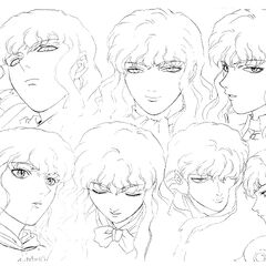 A variant of the older Griffith profile drawings for the 1997 anime.