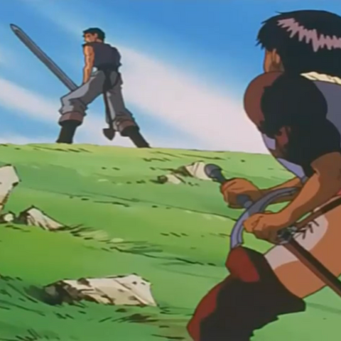 Caska is ordered to not interfere in their fight.