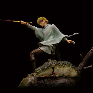 Statue of Serpico practicing swordplay bloody version released by Art of War.