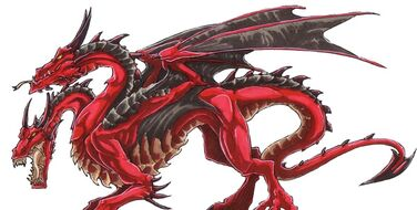 Red 2headed dragon