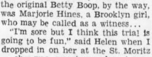 Margie hines witness 1933