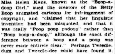Poop Poop a Doop Boop Boop a Doop Boop