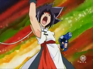 Ray holding his Launcher V-FORCE
