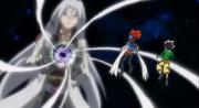 Masamune and Gingka face Faust