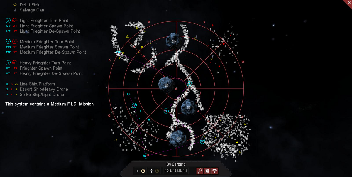 84 Cerbero 3D System Map