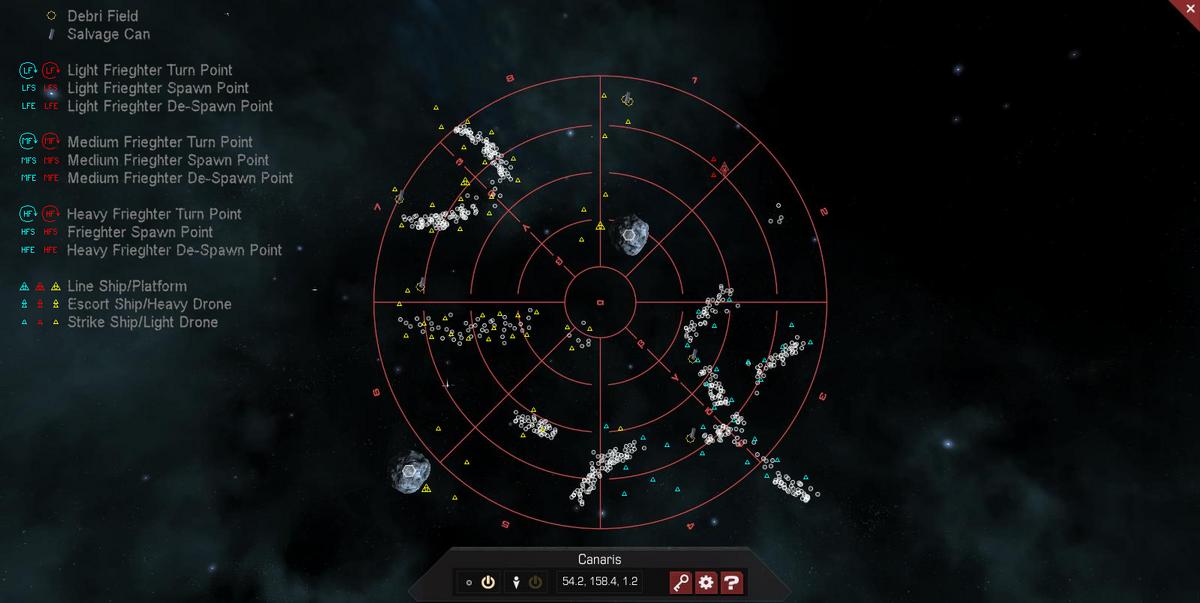 Canaris 3D System Map