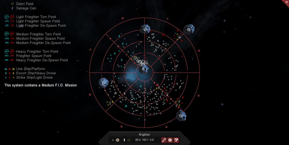 Kryphon 3D System Map